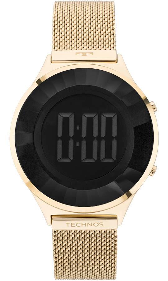 Relógio Technos Feminino Crystal Bj3572aa 4p Dourado Digital - R  598,90 em  Mercado Livre 8cd13596ee
