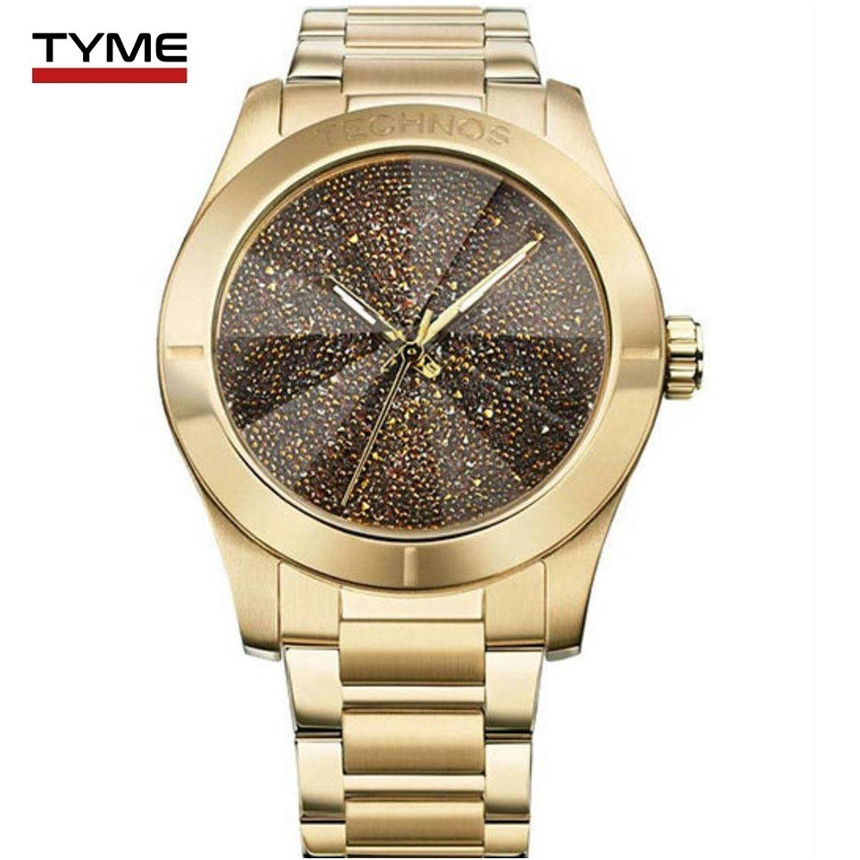 687c1300ca9b3 relógio technos feminino crystal swarovski 2039al 4m c  nfe. Carregando zoom .