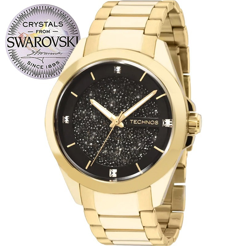 97a6d443f84ec relógio technos feminino crystal swarovski 203aaa 4p c  nfe. Carregando zoom .