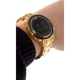 Relogio Technos Feminino Digital Dourado Bj3059ac/4p Fashion