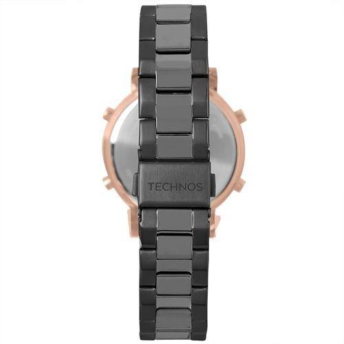 4273e93a58b36 Relógio Technos Feminino Digital Preto rosê Bj3059aa 5p - R  439