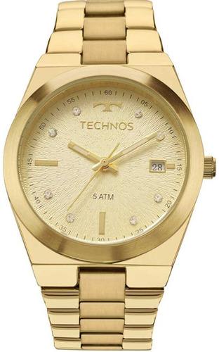 relógio technos feminino dourado