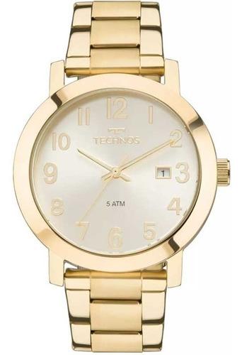 relógio technos feminino dourado analógico garantia