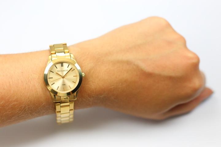 18340416aef Relógio Technos Feminino Dourado Elegance 2035lrs 4x - R  236