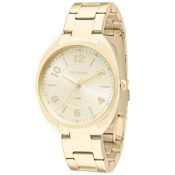 c44386a77cc Relógio Technos Feminino Dourado Elegance Dress 2035mcf Novo - R ...