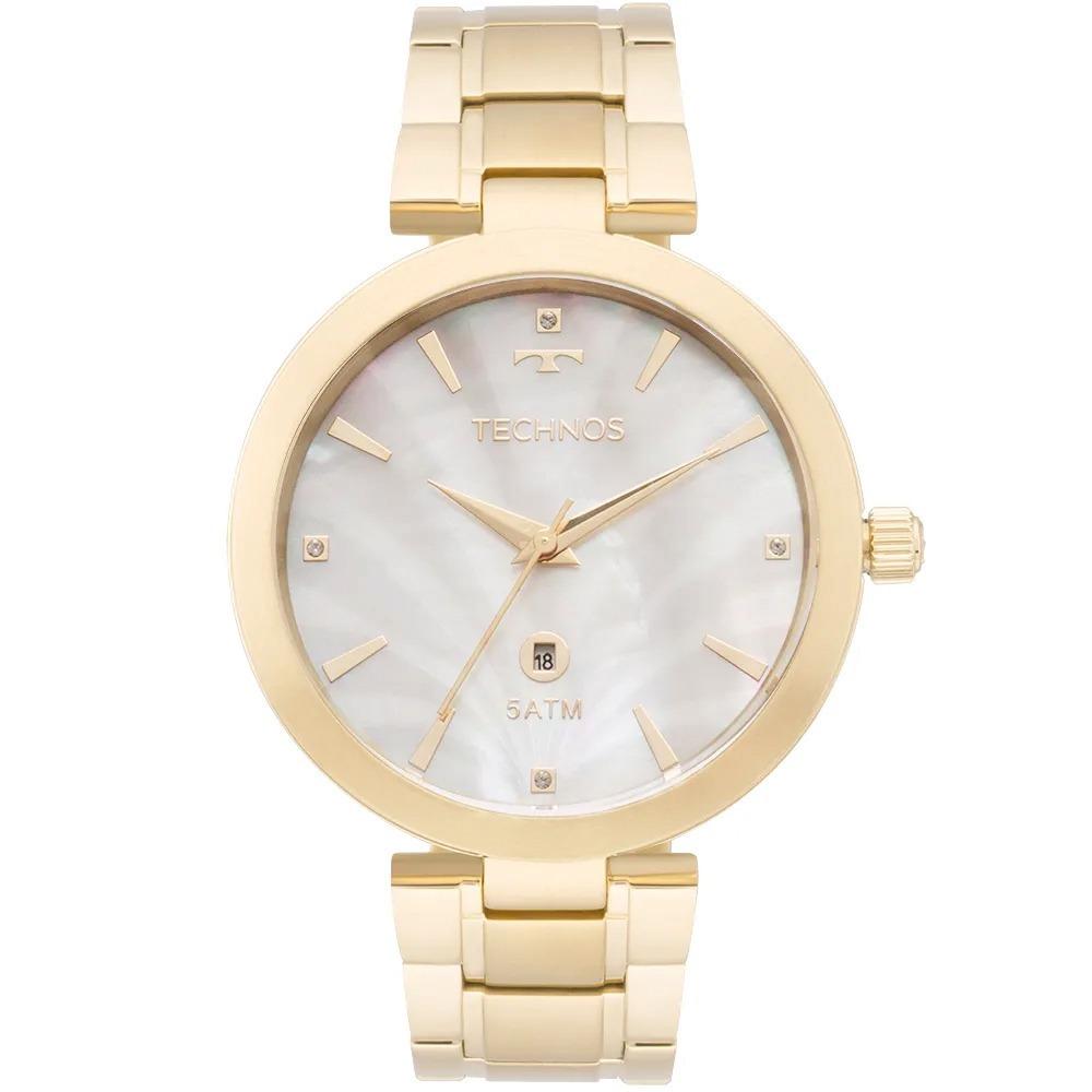 9d1c227ff3d relógio technos feminino dourado madrepérola gl10id 4b - nf. Carregando  zoom.