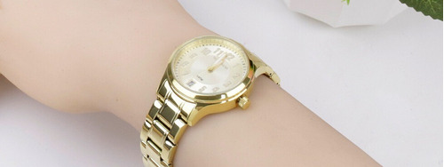 relógio technos feminino dourado original