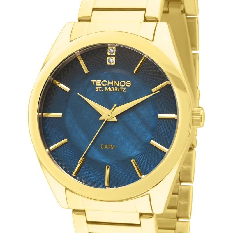 Relógio Technos Feminino Dourado St Moritz 2036lou 4a - R  258,00 em ... cec15b4fef