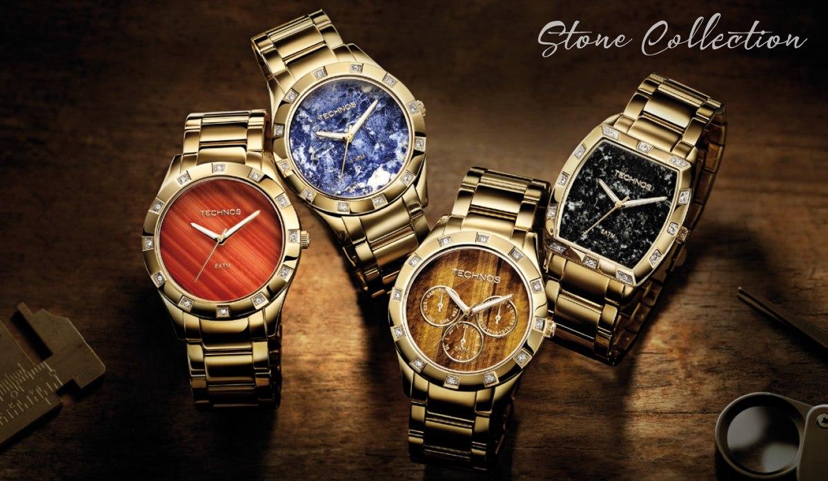 ac9247640429f Relógio Technos Feminino Elegance 2033ac 4p Dourado - R  498,90 em ...