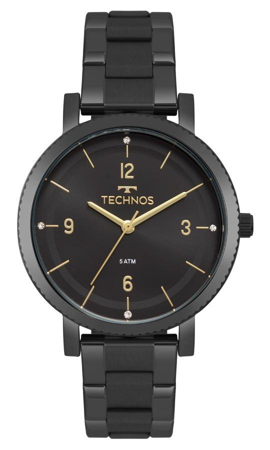 a2beebc3948e4 Relógio Technos Feminino Elegance 2035mps 4p Preto Analogico - R ...