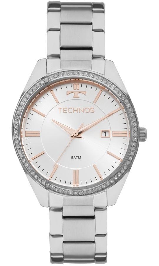 e00f613f4236f relógio technos feminino elegance 2115mnc 1k prata rose. Carregando zoom.