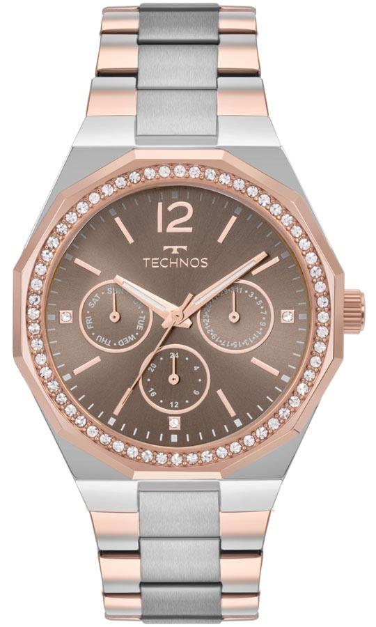 Relógio Technos Feminino Elegance 6p29ajb 5m Chocolate Rose - R  458,90 em  Mercado Livre 891b32a5ee