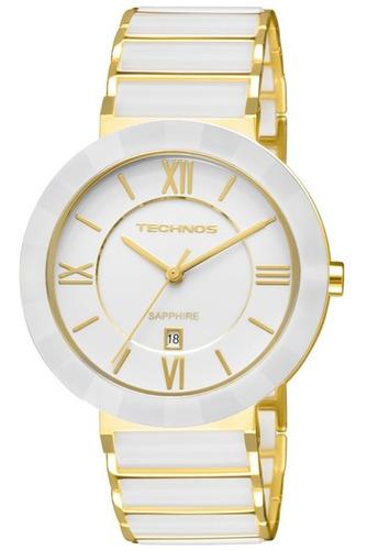 relógio technos feminino elegance ceramic safira 2015bv/4b