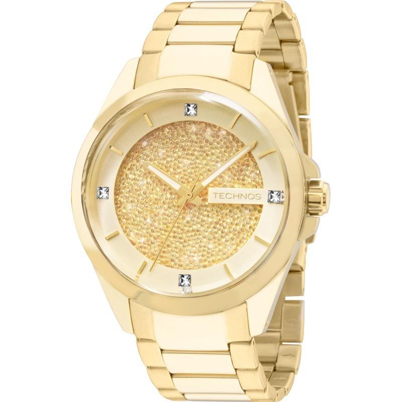 4ec90ca2f9600 relógio technos feminino elegance crystal 203aaa 4x. Carregando zoom.