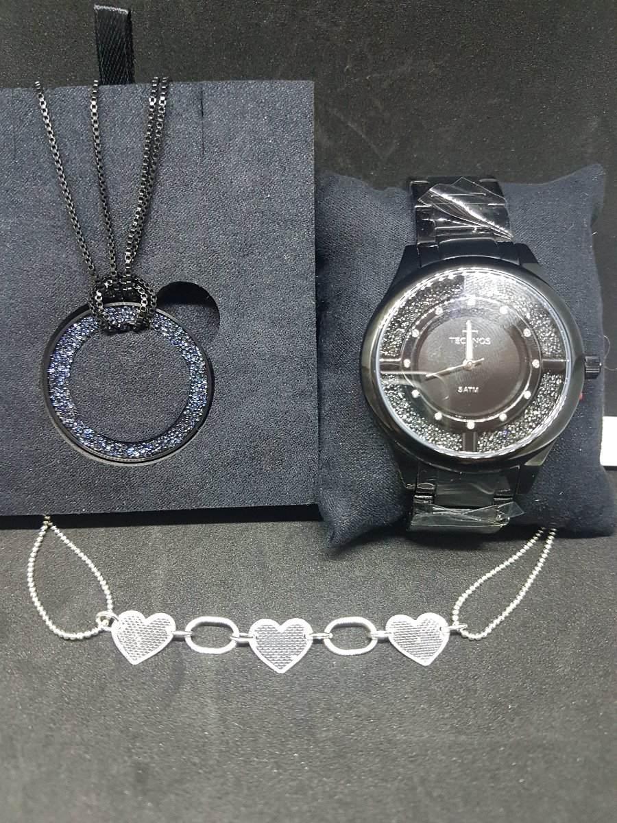 ef64d1bf241fd relógio technos feminino elegance crystal preto gl30fm 4p. Carregando zoom.