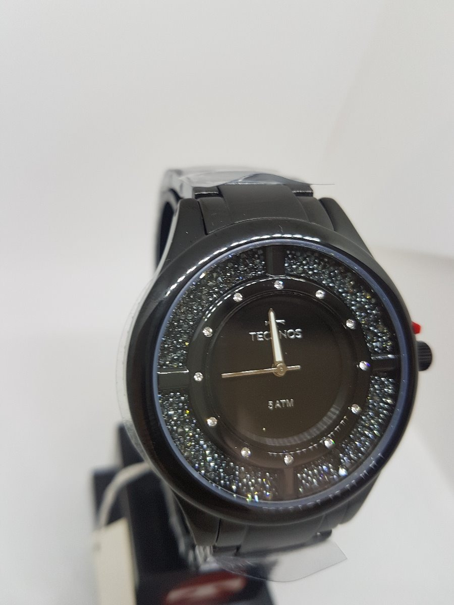 e3b04a7fd5883 relógio technos feminino elegance crystal preto gl30fm 4p. Carregando zoom.