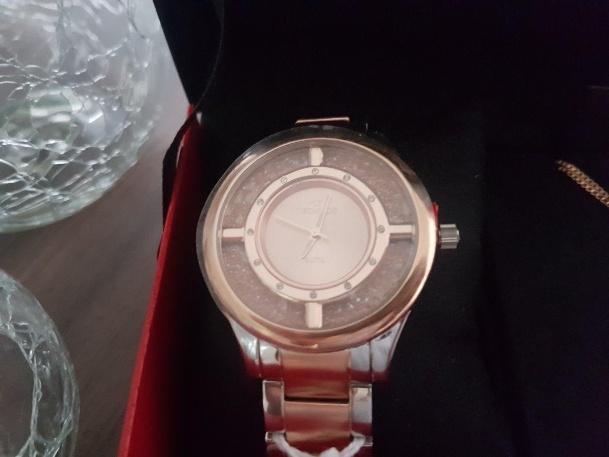 b868d70b81c82 relógio technos feminino elegance crystal rose gl30fn 5a. Carregando zoom.