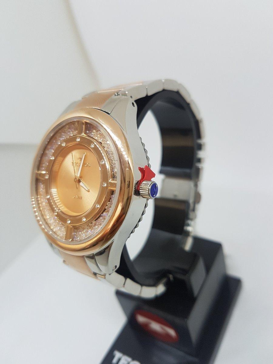 relógio technos feminino elegance crystal rose gl30fn 5a. Carregando zoom. a3124c6a91