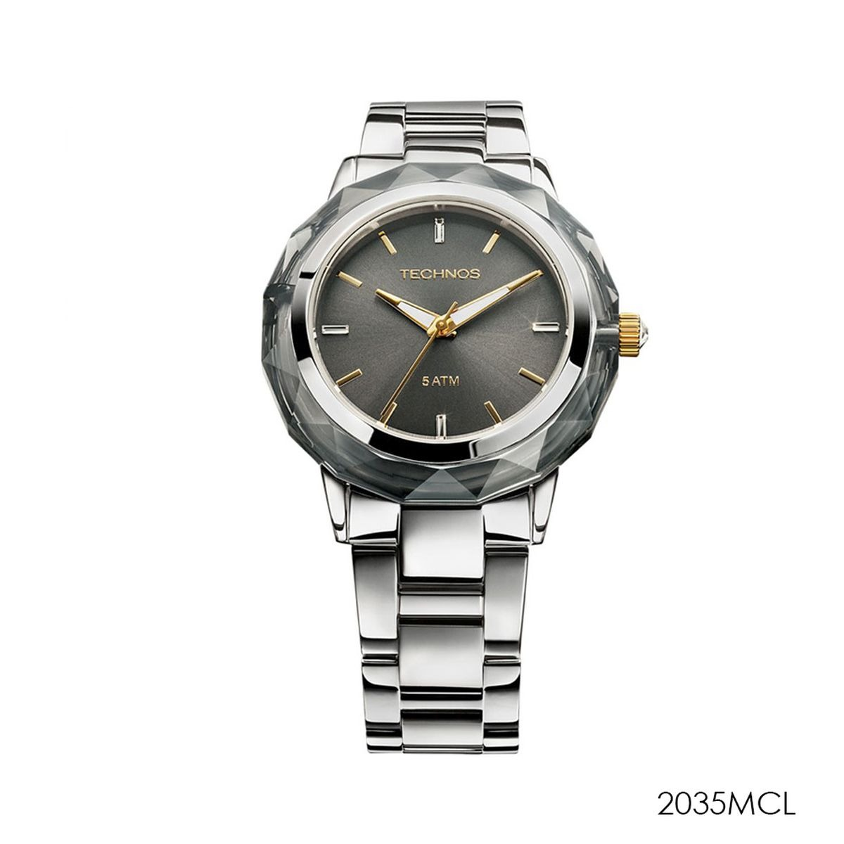 b61cdddac588e relógio technos feminino elegance crystal swarovski 2035mcl. Carregando zoom .