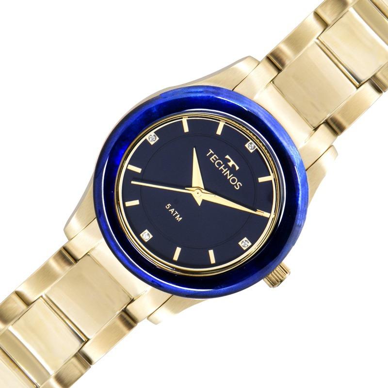 relógio technos feminino elegance dourado azul 2036mgk 4a. Carregando zoom. 71fd9e5ad5