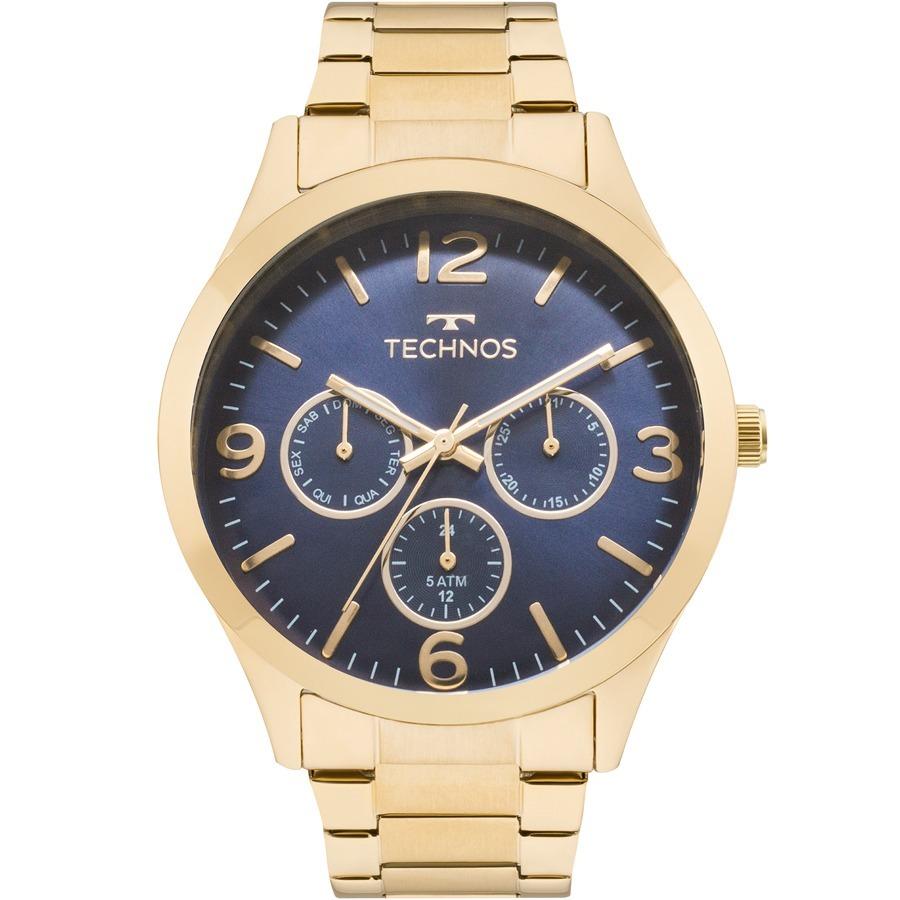 1967bc7564a8c relógio technos feminino elegance dourado marinho 6p29ajh 4a. Carregando  zoom.