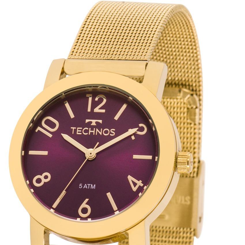 71d8d866c06 relógio technos feminino elegance dourado nfe 2035mlp 4n. Carregando zoom.