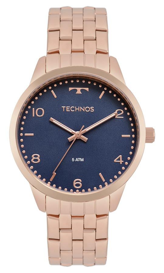 relógio technos feminino elegance dress rosé 2035mpk 4a. Carregando zoom. b08fb1a8d3