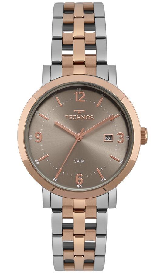 2808a12cf9983 relógio technos feminino elegance dress rosé 2115mpf 5c. Carregando zoom.