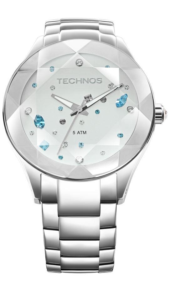 e52f893f758b7 Relógio Technos Feminino Elegance Swarovski 2039av 1k - R  579,99 em ...