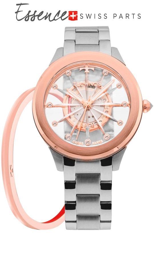 Relógio Technos Feminino Essence Suiço F03101ab k1 Rose - R  568,90 em  Mercado Livre ff617c6985