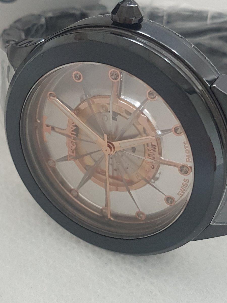 cf52555fa74 relógio technos feminino essence suiço preto f03101ac 4w. Carregando zoom.