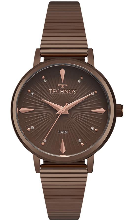 Relógio Technos Feminino Fashion 2035mjy 4m Marrom Analogico - R  358,80 em  Mercado Livre 5266b6ab1e