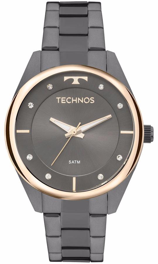 9c5638591a7 Relogio Technos Feminino Fashion 2035mld 4p Preto - R  348