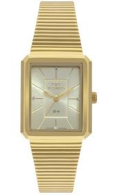 881ad0ed32 Relogio Technos Feminino Dourados Quadrado - Relógios De Pulso no ...