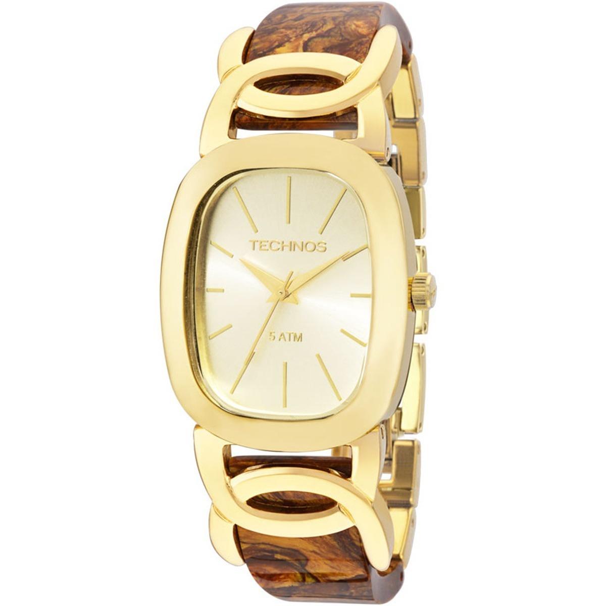 f066aa00d1f relógio technos feminino fashion quadrado dourado 2035lyl 4x. Carregando  zoom.