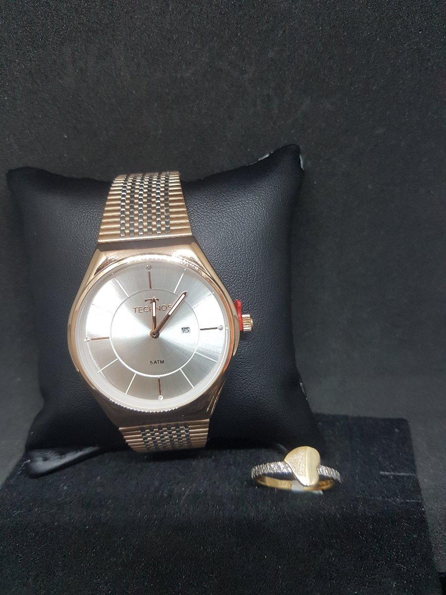 a1643bf578082 Relógio Technos Feminino Fashion Trend Bicolor Gl15ap 4b+sj - R  493,00 em  Mercado Livre