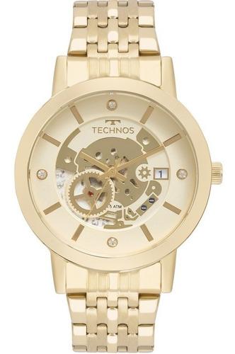 relógio technos feminino fashion trend dourado 2117lao/4x