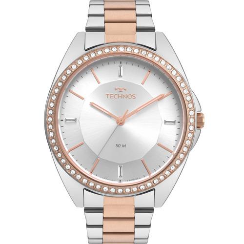 relógio technos feminino fashion trend original 2035mqv/5k