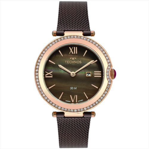 relógio technos feminino pequeno c/garantia nf gl15au/5m