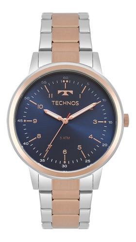 relógio technos feminino prata / rose gold