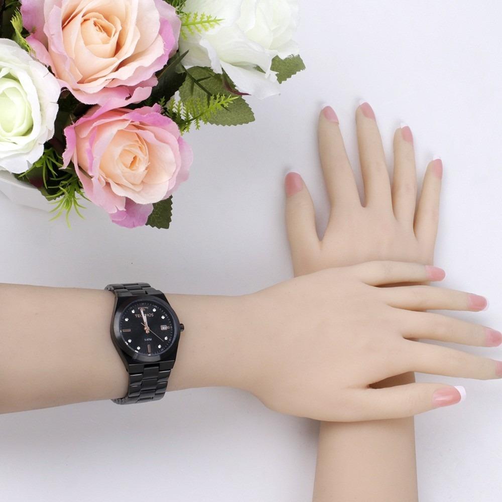 f9662d34aba3d relógio technos feminino preto fashion trend 2115kzs 5p. Carregando zoom.