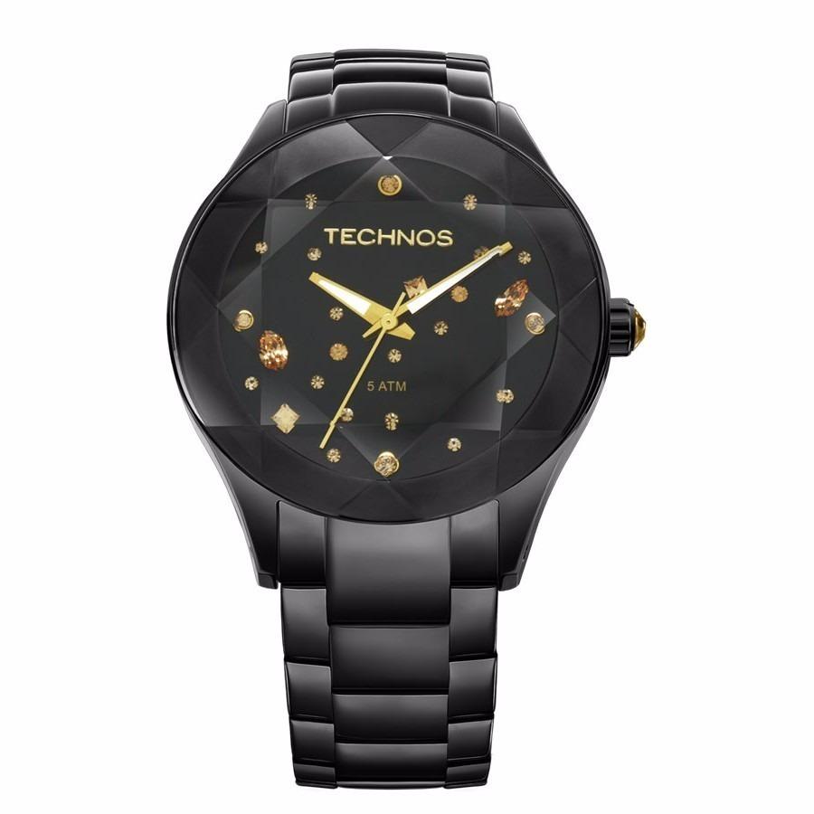 ed4ecd13335ac relógio technos feminino preto swarovski 2039audtm 1p orig. Carregando zoom.
