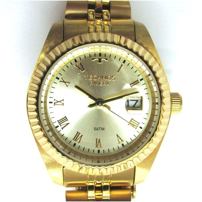 Relógio Technos Feminino Riviera Folhado Gl10hy 4x - R  389,90 em ... 2431537da5