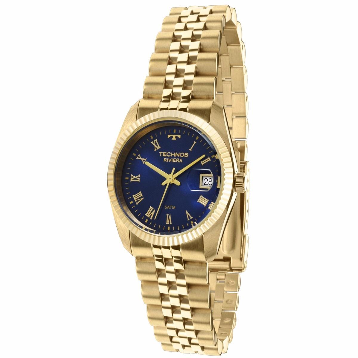 Relógio Technos Feminino Riviera Gl10ib 4a Dourado - R  399,00 em Mercado  Livre 28b08b8c4c