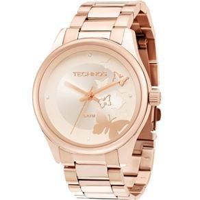 3b2e9a20c0c42 Relógio Technos Feminino Rose Original 2035lqz 4t - R  199