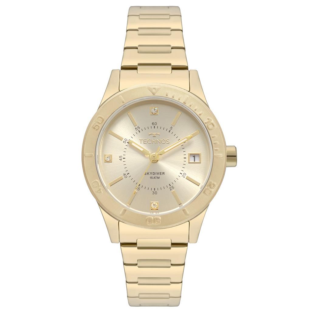 2c9557430d21a relógio technos feminino skydiver dourado 2115mor 4x. Carregando zoom.