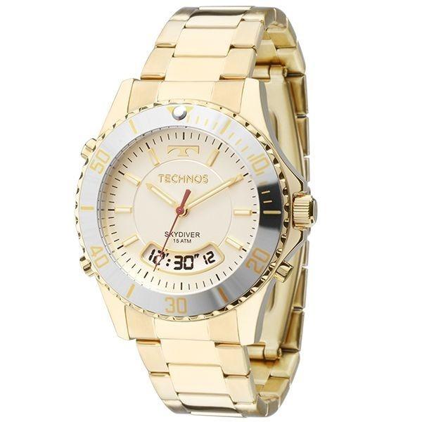 891b4e8967a87 Relógio Technos Feminino Skydiver Dourado T205ja 4b - R  399