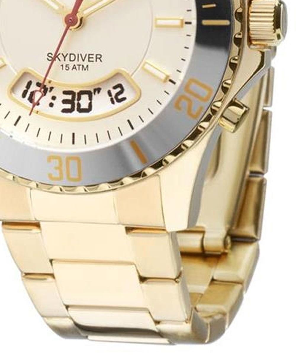 1851c3c1856f8 Relógio Technos Feminino Skydiver Dourado T205ja 4b - R  399,00 em ...