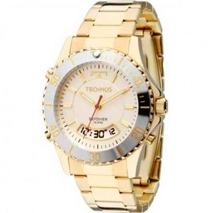 6a6f09bba9f20 Relógio Technos Feminino Skydiver Dourado T205ja 4b Original - R ...
