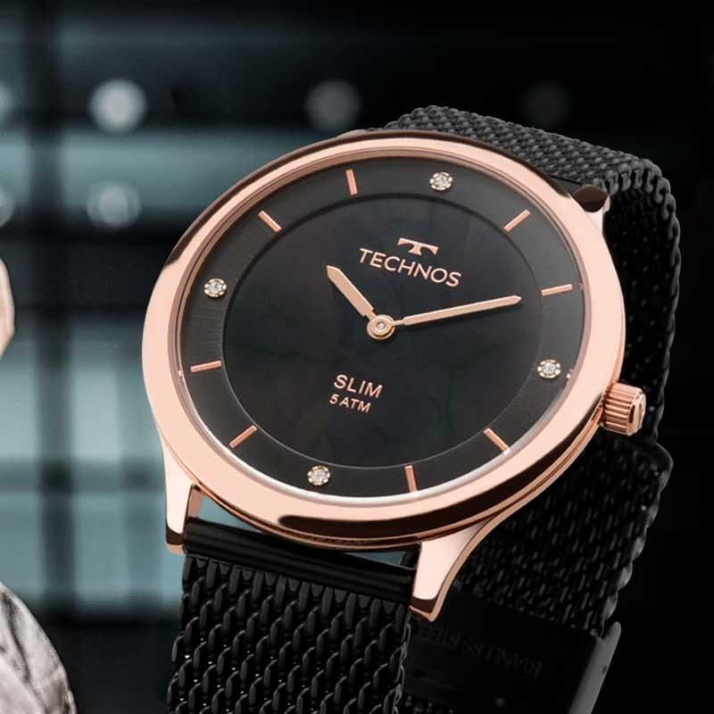 Relógio Technos Feminino Slim Gl20hi 4p - R  469,00 em Mercado Livre 88ae7fb40b